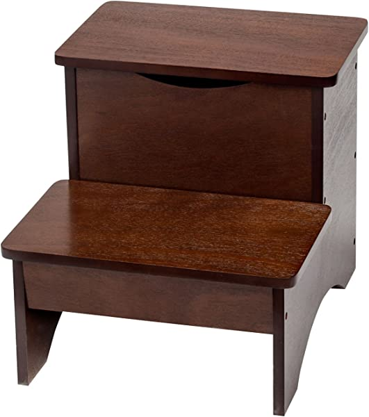 Fox Valley Traders 2 Step Wooden Step Stool With Hidden Storage By Oakridge 15 W X 12 3 4 D