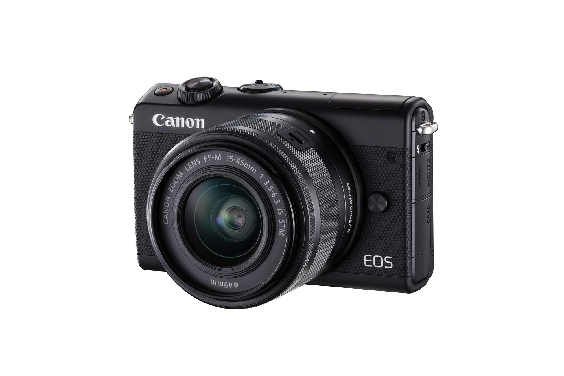 Canon EOS M100 BK M15-45 S - Cámara con sensor APS-C de 24.2 MP ...