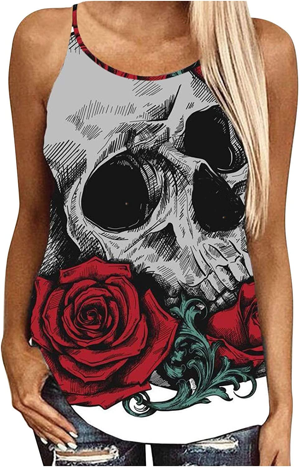 Backless Tank Tops for Women Selling rankings Halter Direct sale of manufacturer Casual Printed Loose Flower
