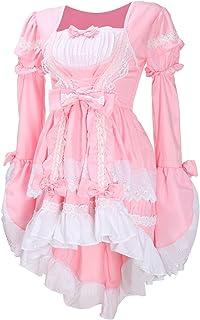 LATH.PIN Vestito Lolita Adult Anime Carino Gotico Cosplay Vestito Cameriera Ristorante Halloween Vestito Costume Anime per...