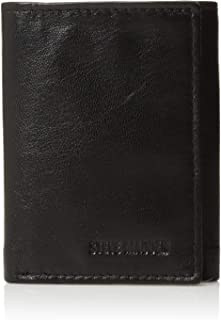 Steve Madden mens Leather Trifold Rfid Wallet With Two Bill Fold Pockets Wallet
