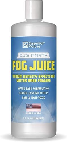 Fog Juice - Fog Machine Fluid | Medium Density (32 FL OZ / 1 Quart), MADE IN USA – Perfect for 400 Watt to 1500 Fog M...