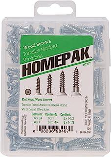 HOMEPAK 42172 Flat Head Square Drive Wood Screws