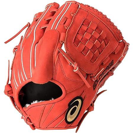 アシックス(asics) 軟式 野球 グローブ 投手用(タテ) 高校野球対応 GOLD STAGE SPEED AXEL ゴールドステージ スピードアクセル サイズ8 3121A325 N.Rオレンジ゛ 630 LH(右投げ用)