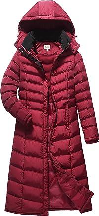 47275f2baced5 ELORA Women s Full Length Winter Fleece Lined Plus Size Maxi Puffer Coat