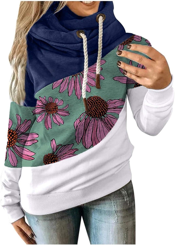 Hotkey Hoodies for Women Long Sleeve Cowl Sweatshirt Neck Hooded Finally resale start Max 59% OFF