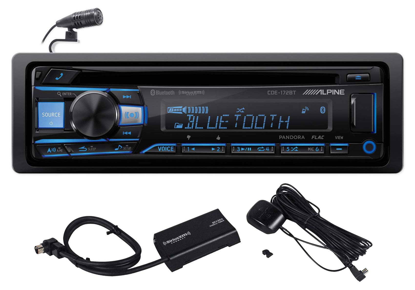 ALPINE CDE 172BT Bluetooth Receiver SiriusXM