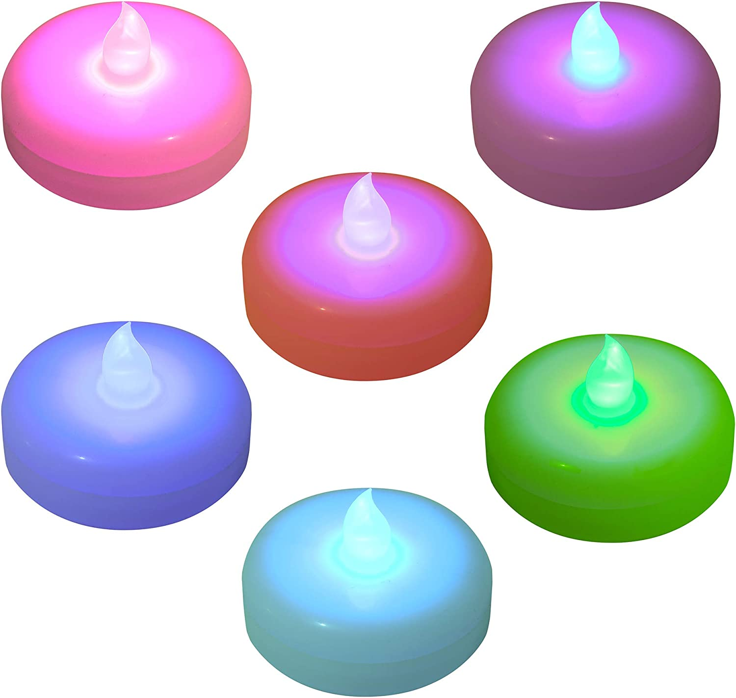 Lumabase Battery Operated Floating 100% quality warranty LED Candles-Color Changing 6 Industry No. 1
