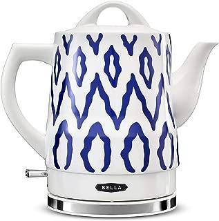 BELLA 14744 Electric Tea Kettle, 1.5 LITER, Blue Aztec
