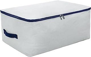 100% natürliche Baumwolle, große Größe Weiche Aufbewahrungstasche für Bettwäsche, Bettdecken, Kissen, Decken, Kissen, alle sperrigen Gegenstände, atmungsaktiv und waschbar grau
