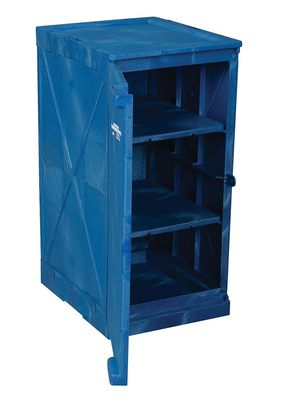 Eagle M12CRA Modular Poly Cabinet Blue Door San Jose Mall Award 12 1 gal