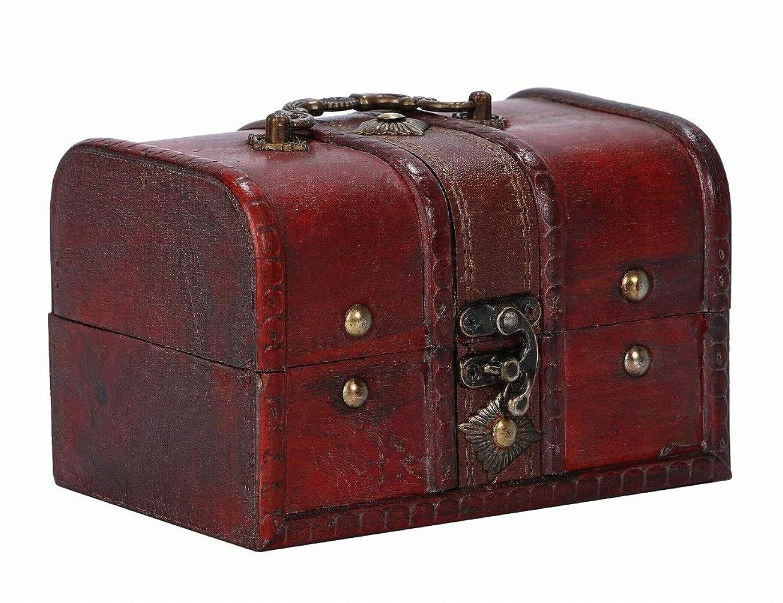 プラットフォームモットー吹雪r_planning レトロ調 木製 ボックス アンティーク調 装飾 小物入 木箱 持ち手付
