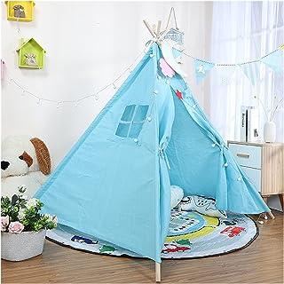 YSJJWDV Teepee tält 1,35 m bärbart barntält tipi-tält för barn Tipi Infantil lekhus Wigwam för barn barn tält (färg: Blå (...