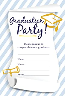 Homewood Press, Inc. Design GraduationParty01 Rub4Scent Peppermint Scented Fill-in Graduation Party Invitations with Matching Envelopes, Pack of 25