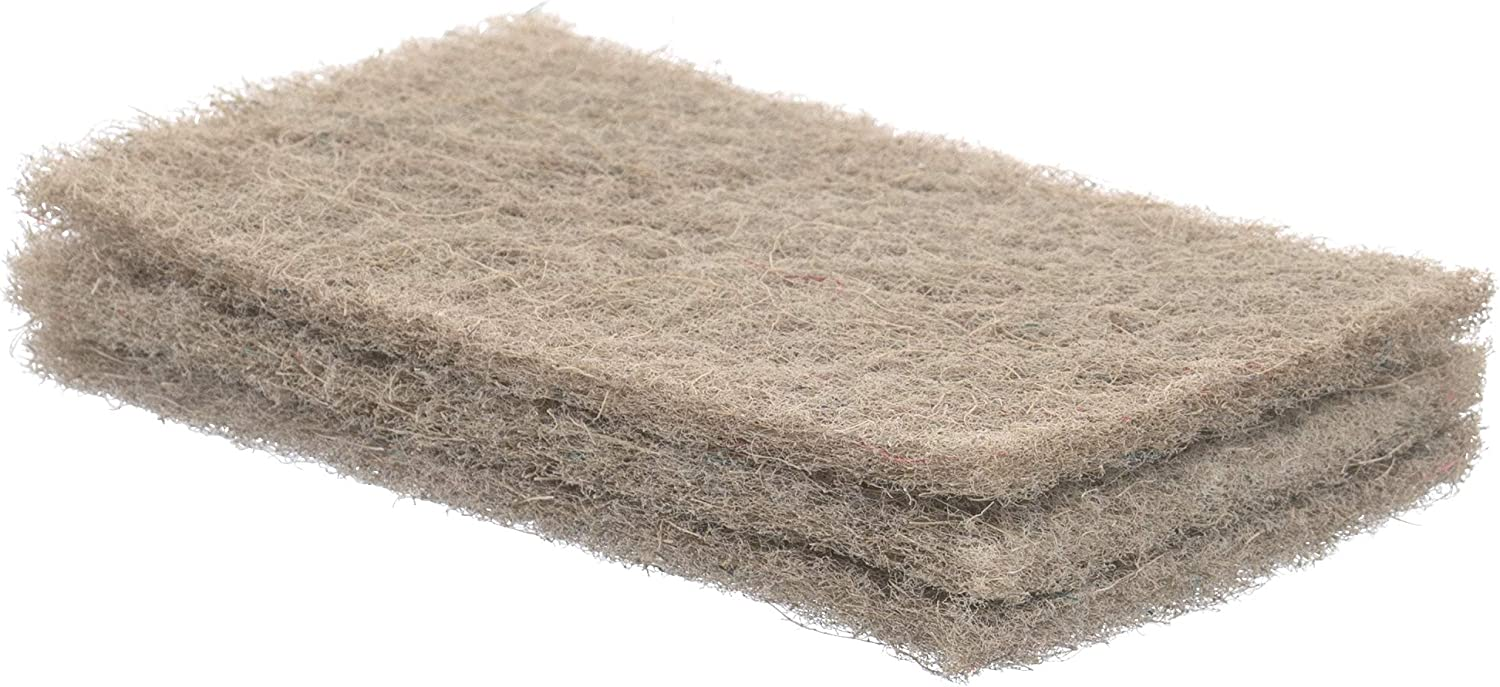Superio Scouring Pad Pack OFFer of 3 Natural Cl - Sisal Non-Scratching