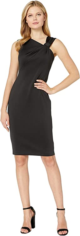 Asymmetric Neck Sheath Dress