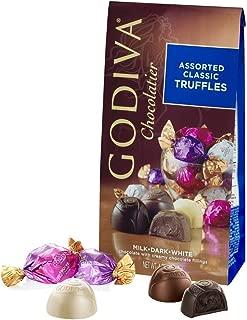 Godiva Chocolate Gem Truffle Trio - 4.25 oz Chocolatier Assorted Classic Truffles
