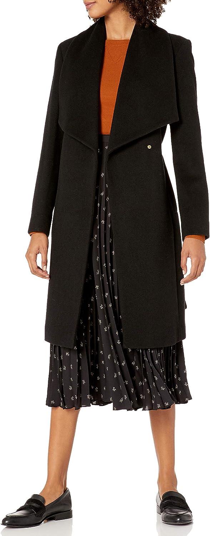 Cole Haan Women's Wool Belted Wrap Coat