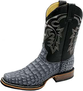 Men Cowboy Boots Genuine Cowhide Leather Crocodile Print Rodeo Boots