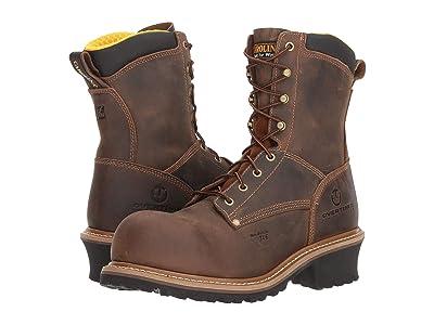 Carolina Poplar 8 Composite Toe Logger CA9853 (Buster Dark Beige) Men