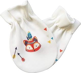 For Babies For Babies - Bio-Baumwolle Baby Kratzhandschuhe/Kratzfäustlinge/Anti-Scratch Fäustlinge für Jungen und Mädchen GOTS Zertifiziert - 100% organic cotton - Made in EU kleiner Fuchs