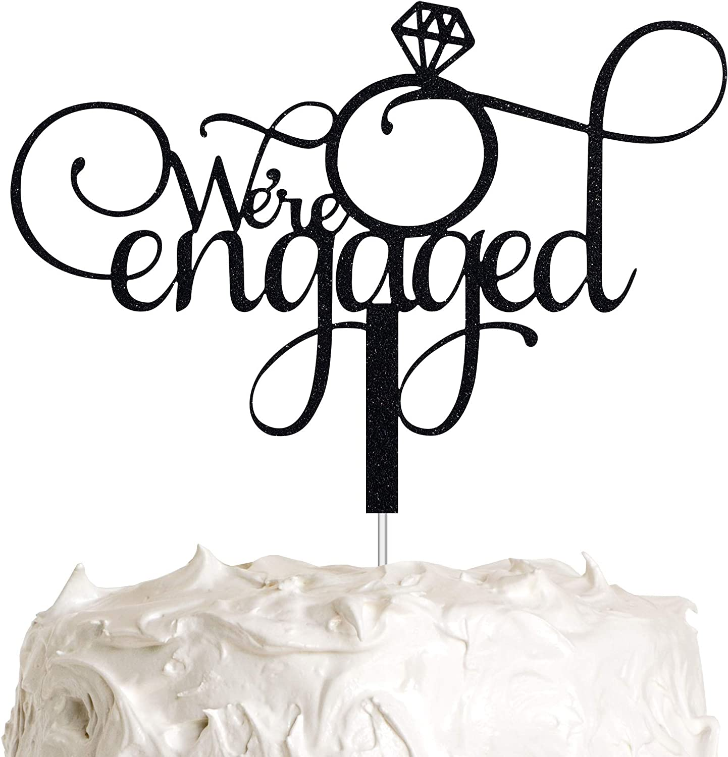ALPHA K Black Rare Engagement Cake We're Topper Engaged Ranking TOP5