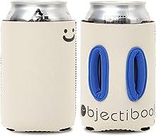 """Objectiboo!(オブジェクティブー)通せるクージー 350ml用 """"LOOK UP"""" クリーム(リバーシブル) 取手付き缶クージー・ペットボトル、CB缶カバーにも使用可 日本製"""