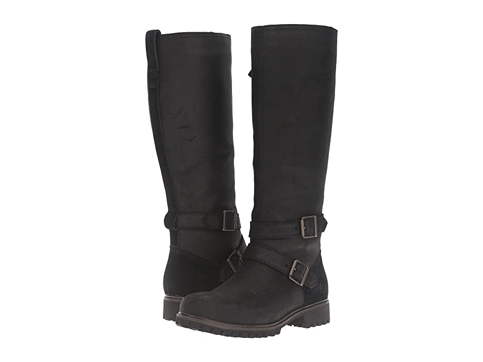 Timberland Wheelwright Tall Medium Shaft Waterproof Boot (Black Suede) Women