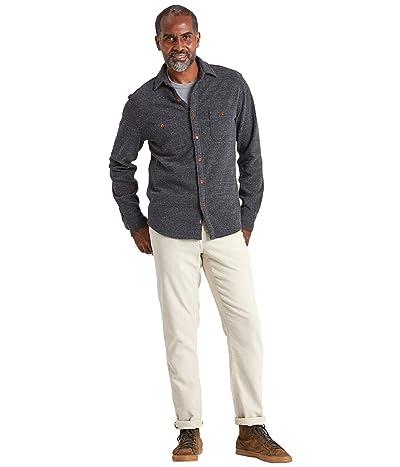 Faherty Knit Alpine Shirt (Charcoal Heather) Men