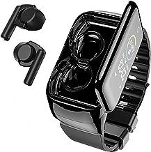 Smart Watch with Bluebooth Earbuds,Wireless Earphones Fitness Tracker Watch 2 in 1,Activity Bracelet with TWS Sleep Music ...