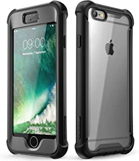 i-Blason Ares Series Designed for iPhone 6s Plus / 6 Plus Case, Full-Body Rugged Clear Bumper Case with Built-in Screen Protector, Black, 5.5