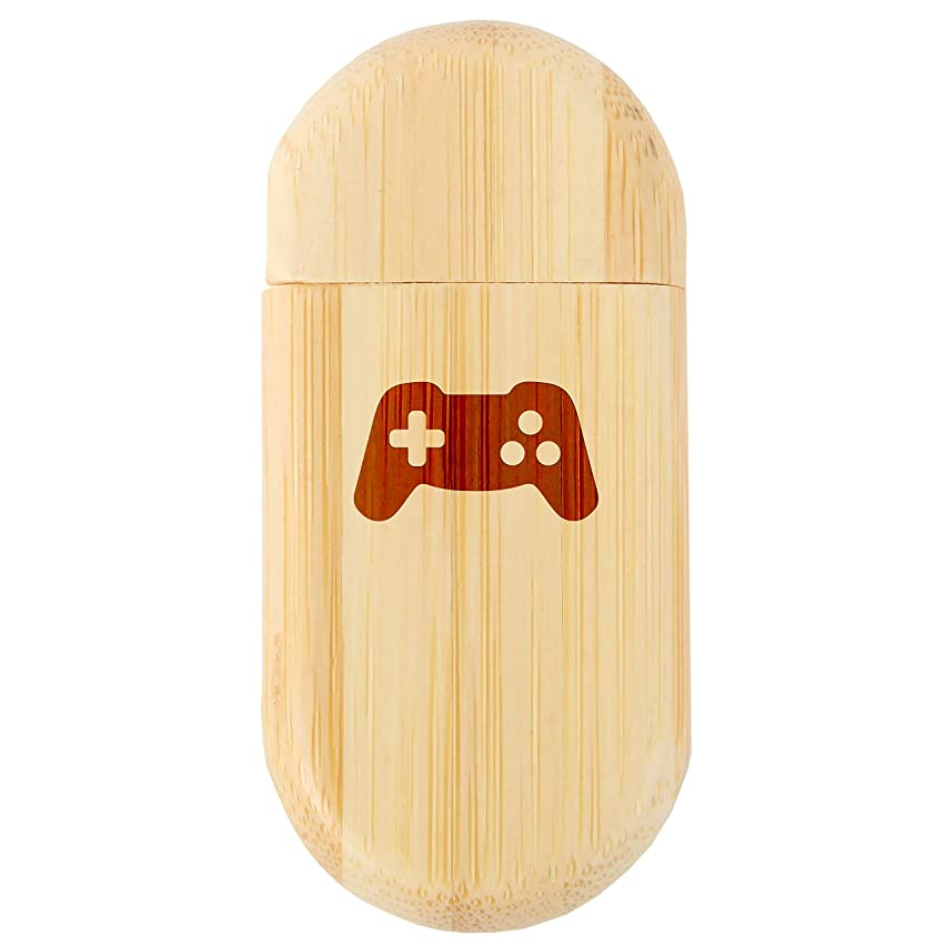 Video Game Controller 8Gb Bamboo USB Flash Drive with Rounded Corners - Wood Flash Drive with Laser Engraving - 8Gb USB Gift for All Occasions