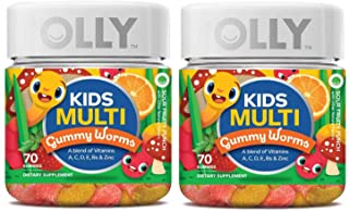 Olly Kids Multivitamin Gummy! 70 Gummies Sour Fruity Punch Flavor! Blend of Daily Vitamins and Minerals! Help Fill Any Nut...