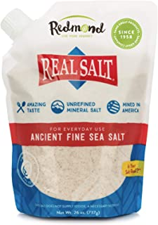 REDMOND Real Sea Salt - Natural Unrefined Gluten Free Fine, 26 Ounce Pouch (1 Pack)