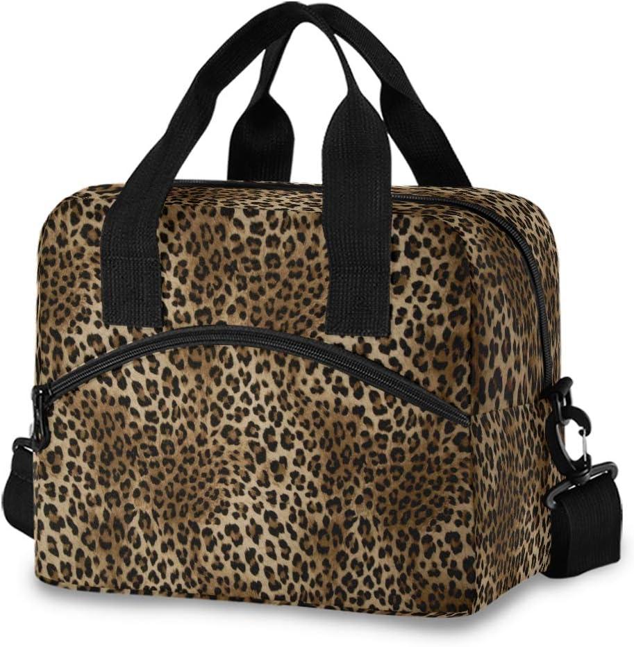 CCDMJ Lunch Bag Leopard Tiger Print Ranking 2021new shipping free shipping TOP8 Women Girls Lunchbox for Reu