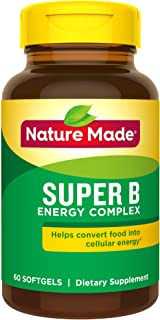 Nature Made Super B Energy Complex Softgels, 60 Count for Metabolic Health† (Packaging May Vary)
