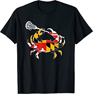 Maryland State Flag Crab Lacrosse Complete Stick Boys & Girl T-Shirt