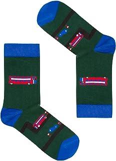 FAVES. Socks&Friends, Autobuses Calcetines para niños en talla 26-30 coloridos alegres divertidos calcetines de algodón