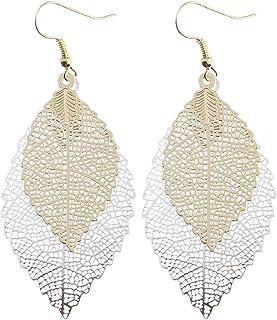 گوشواره زنانه هارلورکی زن آلیاژ فلزی درخت برگ شکل توخالی گوشواره گوشواره جواهرات