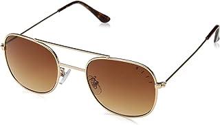 neff Baron Shades Round Sunglasses, White/Gold, 6 mm
