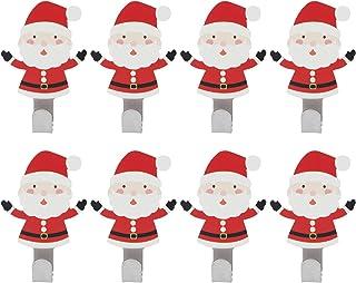 Kerst zelfklevende haak, 8-delige roestvrijstalen kerstman muurhaak voor het ophangen van keuken badkamer thuis