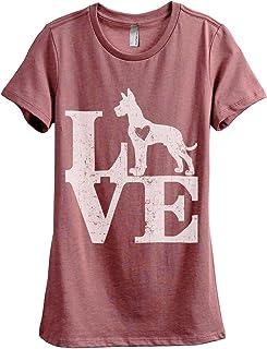 Love Great Dane Dog Women's Fashion Relaxed T-Shirt Tee