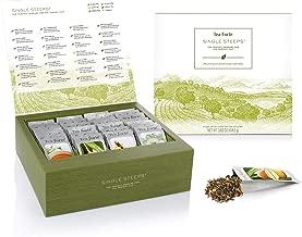 Tea Forte Classic Teas Variety Gift Box, Single Steeps Loose Tea Sampler with 28 Assorted Teas, Black Tea, Green Tea, White Tea, Herbal Tea
