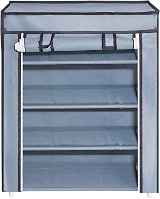 SR 4-Layer Shoe Rack Stand Shoe Protected from Weather & Dust(Grey)