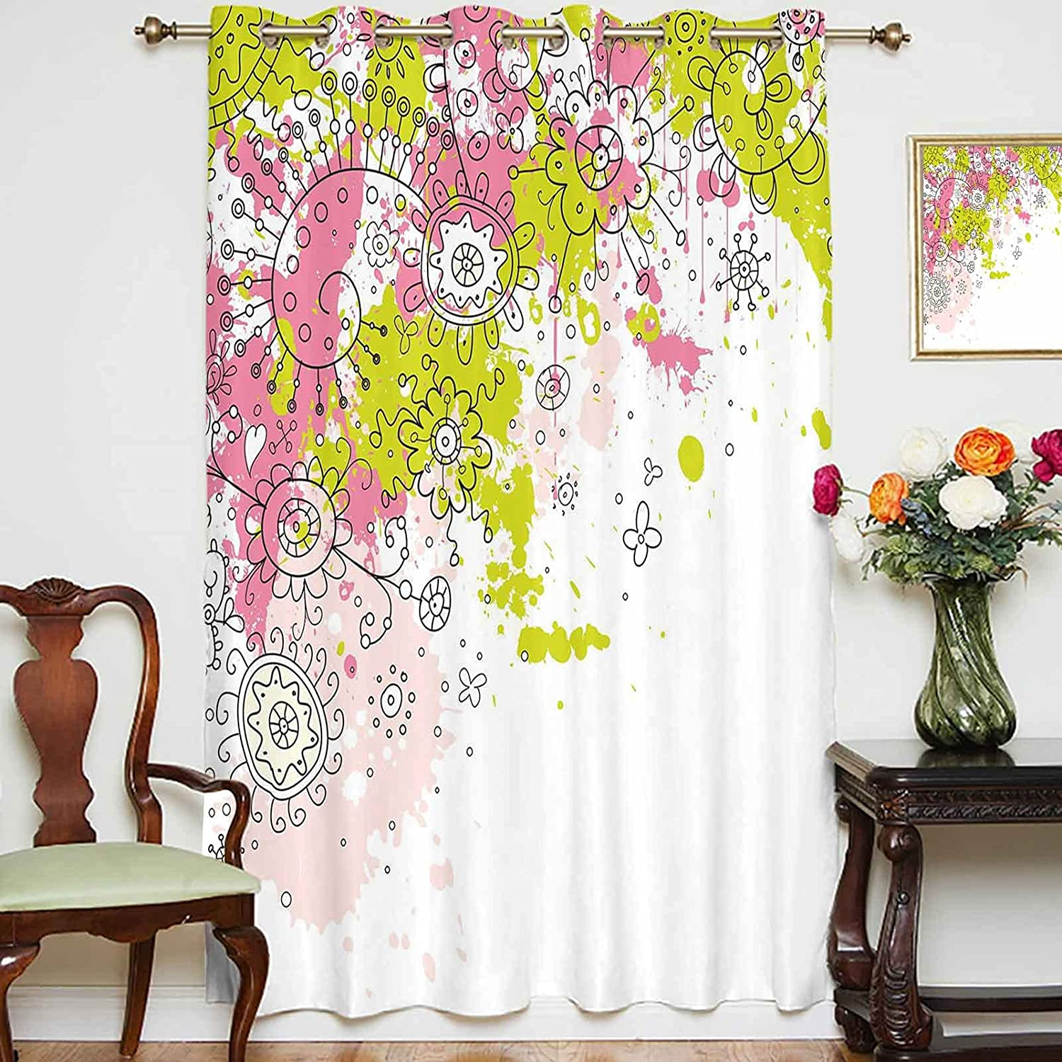 Blackout Shading Curtains Popular shop is the lowest price challenge White Sketchy Image Abstract Outstanding Backdrop