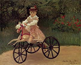$50-$2000 Hand Painted by College Teachers - 34 Monet Paintings - Jean Monet on His Horse Tricycle Claude Monet Kids - Art Oil Painting on Canvas -Size03