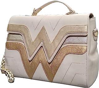 Loungefly x Wonder Woman Gold Logo Crossbody Purse