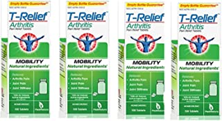 T-Relief Arthritis Pain Relief, 100 Tablets (Pack of 4)