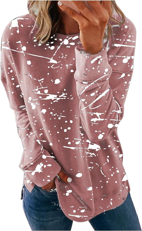 MASZONE Womens Casual Loose Hoodies Long Sleeve Drawstring Pullover Tie-Dye Print Sweatshirts Plus Size Tops Shirts