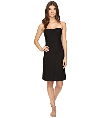 Only Hearts Second Skins Strapless Chemise (Black) Women